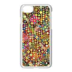 Multicolored Retro Spots Polka Dots Pattern Apple Iphone 7 Seamless Case (white) by EDDArt