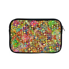 Multicolored Retro Spots Polka Dots Pattern Apple Macbook Pro 13  Zipper Case by EDDArt