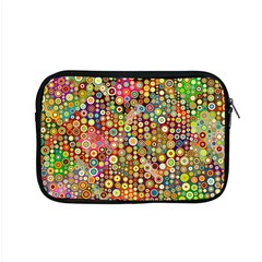 Multicolored Retro Spots Polka Dots Pattern Apple Macbook Pro 15  Zipper Case by EDDArt