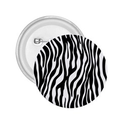 Zebra Stripes Pattern Traditional Colors Black White 2 25  Buttons by EDDArt