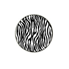 Zebra Stripes Pattern Traditional Colors Black White Hat Clip Ball Marker (4 Pack) by EDDArt