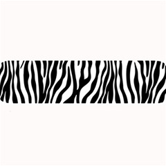 Zebra Stripes Pattern Traditional Colors Black White Large Bar Mats by EDDArt