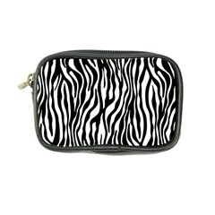 Zebra Stripes Pattern Traditional Colors Black White Coin Purse by EDDArt