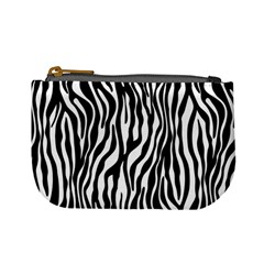 Zebra Stripes Pattern Traditional Colors Black White Mini Coin Purses by EDDArt