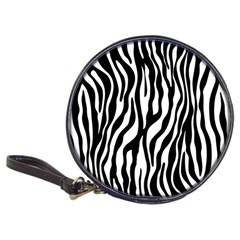 Zebra Stripes Pattern Traditional Colors Black White Classic 20 Cd Wallets by EDDArt