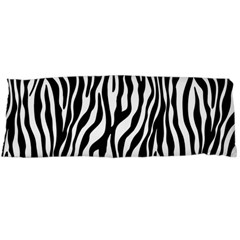 Zebra Stripes Pattern Traditional Colors Black White Body Pillow Case Dakimakura (two Sides) by EDDArt