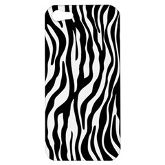 Zebra Stripes Pattern Traditional Colors Black White Apple Iphone 5 Hardshell Case