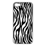 Zebra Stripes Pattern Traditional Colors Black White Apple iPhone 5 Case (Silver) Front