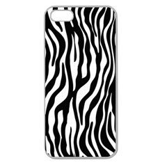 Zebra Stripes Pattern Traditional Colors Black White Apple Seamless Iphone 5 Case (clear) by EDDArt