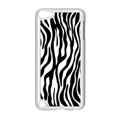 Zebra Stripes Pattern Traditional Colors Black White Apple Ipod Touch 5 Case (white) by EDDArt