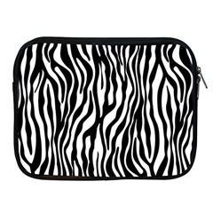 Zebra Stripes Pattern Traditional Colors Black White Apple Ipad 2/3/4 Zipper Cases by EDDArt