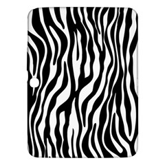 Zebra Stripes Pattern Traditional Colors Black White Samsung Galaxy Tab 3 (10 1 ) P5200 Hardshell Case  by EDDArt
