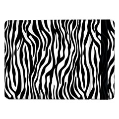 Zebra Stripes Pattern Traditional Colors Black White Samsung Galaxy Tab Pro 12 2  Flip Case by EDDArt