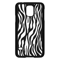 Zebra Stripes Pattern Traditional Colors Black White Samsung Galaxy S5 Case (black) by EDDArt