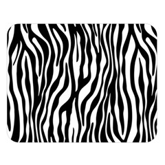 Zebra Stripes Pattern Traditional Colors Black White Double Sided Flano Blanket (large)  by EDDArt