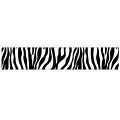 Zebra Stripes Pattern Traditional Colors Black White Flano Scarf (large) by EDDArt