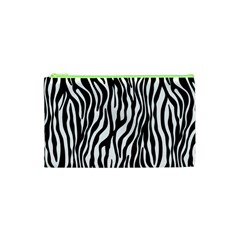 Zebra Stripes Pattern Traditional Colors Black White Cosmetic Bag (xs) by EDDArt