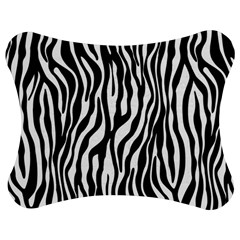 Zebra Stripes Pattern Traditional Colors Black White Jigsaw Puzzle Photo Stand (bow) by EDDArt