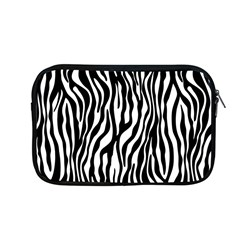 Zebra Stripes Pattern Traditional Colors Black White Apple Macbook Pro 13  Zipper Case by EDDArt