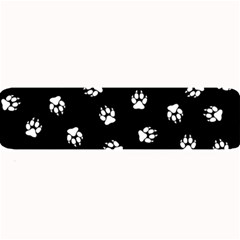 Footprints Dog White Black Large Bar Mats by EDDArt