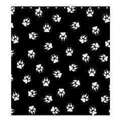 Footprints Dog White Black Shower Curtain 66  X 72  (large)  by EDDArt