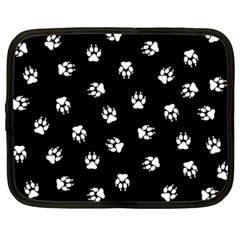 Footprints Dog White Black Netbook Case (xxl)  by EDDArt
