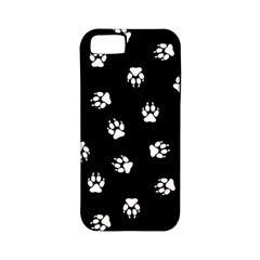 Footprints Dog White Black Apple Iphone 5 Classic Hardshell Case (pc+silicone) by EDDArt