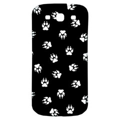 Footprints Dog White Black Samsung Galaxy S3 S Iii Classic Hardshell Back Case by EDDArt