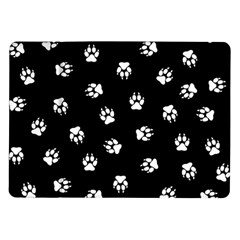 Footprints Dog White Black Samsung Galaxy Tab 10 1  P7500 Flip Case by EDDArt