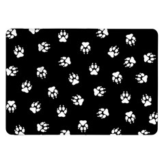 Footprints Dog White Black Samsung Galaxy Tab 8 9  P7300 Flip Case by EDDArt