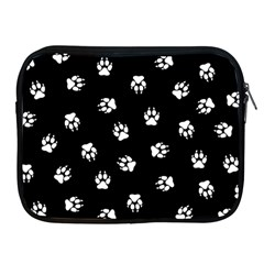 Footprints Dog White Black Apple Ipad 2/3/4 Zipper Cases by EDDArt