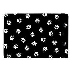 Footprints Dog White Black Samsung Galaxy Tab Pro 10 1  Flip Case