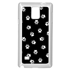Footprints Dog White Black Samsung Galaxy Note 4 Case (white) by EDDArt
