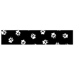 Footprints Dog White Black Flano Scarf (small) by EDDArt