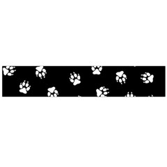 Footprints Dog White Black Flano Scarf (large) by EDDArt
