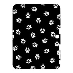 Footprints Dog White Black Samsung Galaxy Tab 4 (10 1 ) Hardshell Case  by EDDArt