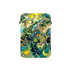 Flower Power Fractal Batik Teal Yellow Blue Salmon Apple Ipad Mini Protective Soft Cases by EDDArt