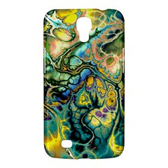 Flower Power Fractal Batik Teal Yellow Blue Salmon Samsung Galaxy Mega 6 3  I9200 Hardshell Case by EDDArt