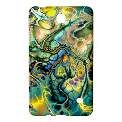 Flower Power Fractal Batik Teal Yellow Blue Salmon Samsung Galaxy Tab 4 (8 ) Hardshell Case  by EDDArt