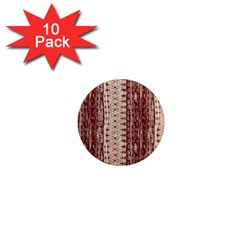 Wrinkly Batik Pattern Brown Beige 1  Mini Magnet (10 Pack)  by EDDArt