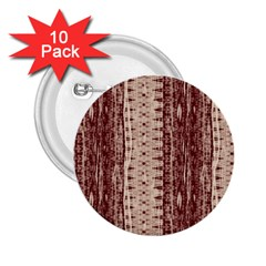 Wrinkly Batik Pattern Brown Beige 2 25  Buttons (10 Pack)  by EDDArt