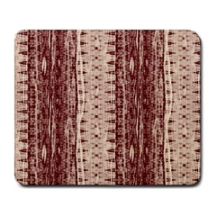 Wrinkly Batik Pattern Brown Beige Large Mousepads by EDDArt