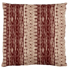 Wrinkly Batik Pattern Brown Beige Large Cushion Case (two Sides) by EDDArt