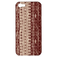 Wrinkly Batik Pattern Brown Beige Apple Iphone 5 Hardshell Case by EDDArt
