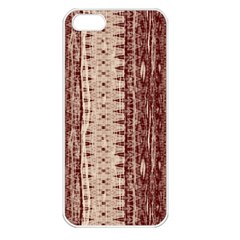 Wrinkly Batik Pattern Brown Beige Apple Iphone 5 Seamless Case (white) by EDDArt