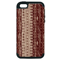 Wrinkly Batik Pattern Brown Beige Apple Iphone 5 Hardshell Case (pc+silicone) by EDDArt