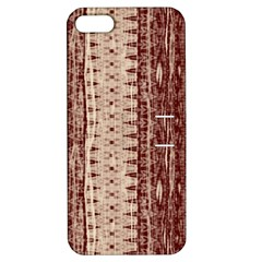 Wrinkly Batik Pattern Brown Beige Apple Iphone 5 Hardshell Case With Stand by EDDArt