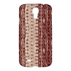 Wrinkly Batik Pattern Brown Beige Samsung Galaxy S4 I9500/i9505 Hardshell Case by EDDArt