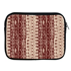 Wrinkly Batik Pattern Brown Beige Apple Ipad 2/3/4 Zipper Cases by EDDArt