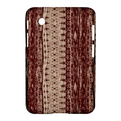 Wrinkly Batik Pattern Brown Beige Samsung Galaxy Tab 2 (7 ) P3100 Hardshell Case  by EDDArt